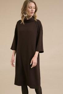 Коричневое платье прямого кроя Emka PL1046/kurk
