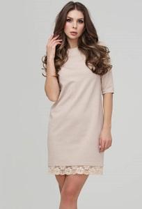 Платье силуэта с рукавом три четверти Donna Saggia DSP-226-45t