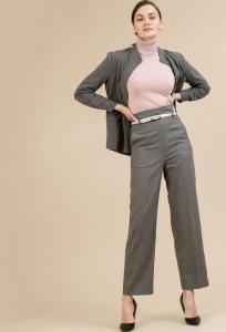 Серые брюки с завышенной талией Emka D119/asiya