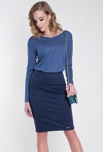Тёмно-синяя трикотажная юбка Zaps Stella