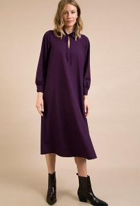 Фиолетовое платье А-силуэта Emka PL899/marok