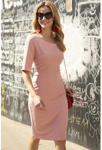 Розовое платье Makadamia M444