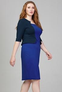 Платье с эффектом надетого жилета Donna Saggia DSPB-08-7t