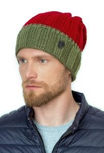 Двухцветная шапка с закрепкой сзади Landre Клаудио
