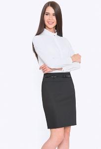45769f3a646 Купить чёрную юбку для учёбы и офиса Emka 202-50 kapriz в интернет ...