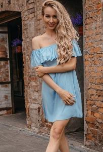 Летнее платье с оригинальным воланом Donna Saggia DSP-343-1