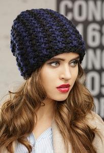 Женская шапка объемной крупной вязки SuperShapka Andy