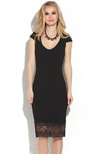 Чёрное платье из эластичного крепа Donna Saggia DSP-265-4t