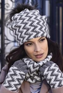 Комплект женская шапка и снуд Kamea Madison