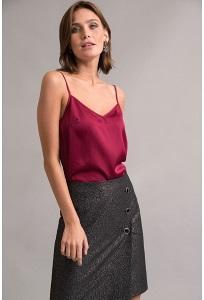 Черная юбка с пуговицами Emka S822/sortan