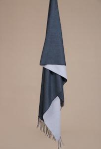 Сине-серый палантин Emka A001/SCARF