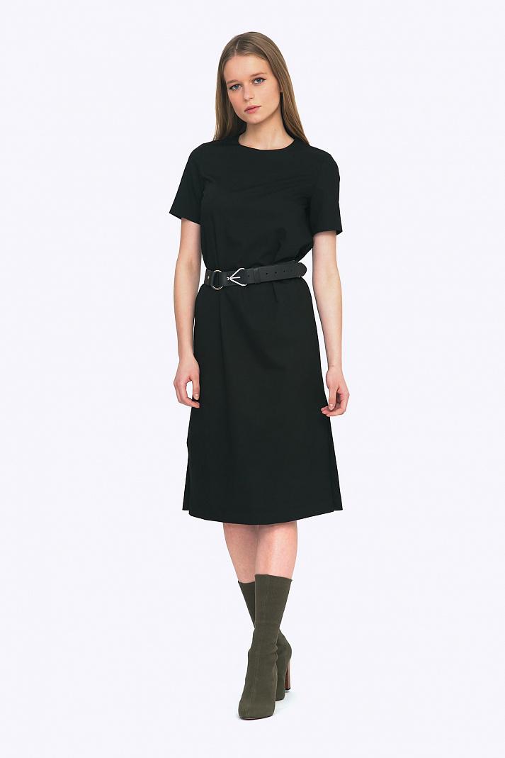 a515499316d Чёрное элегантное платье Emka PL514 agrafena купить в интернет-магазине