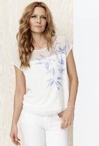 Лёгкая блузка с полупрозрачной вставкой Sunwear Y05-2-15