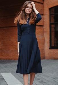 Платье с юбкой плиссе Donna Saggia DSP-400-41t