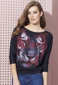 Блузка женская с принтом Тигр Zaps Tia