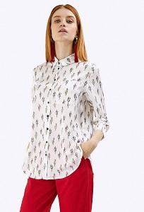 Белая блузка на пуговицах Emka B2198/indiana