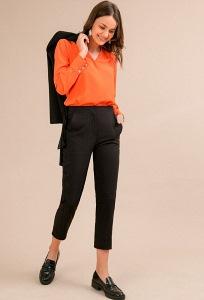 Укороченные брюки черного цвета Emka D127/binazir