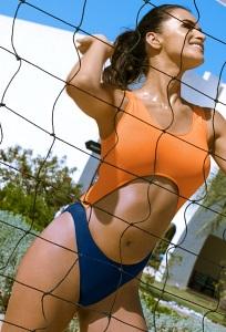 Сине-оранжевый спортивный купальник Primo 500/1