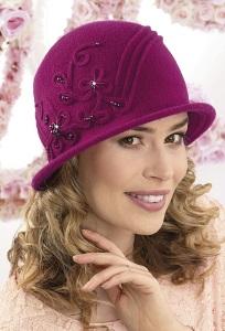 Женская шляпка из шерсти Willi Pierra