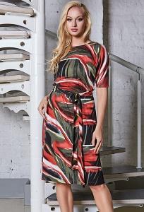 Летнее трикотажное платье TopDesign A8 025
