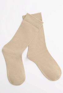 Однотонные носки бежевого цвета Emka V001/erdal