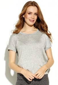 Светло-серая меланжевая блузка Zaps Pulla