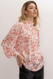 Изящная блузка с цветочным принтом Emka B2646/grafic