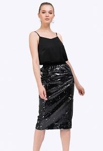 Нарядная юбка из пайеток Emka S832/emanuela