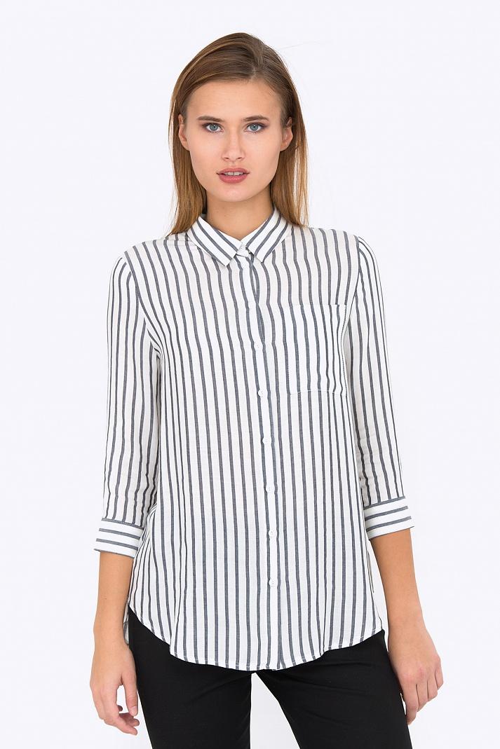 50ab823cc1a Купить женскую рубашку в полоску Emka Fashion b 2198 kemina в ...
