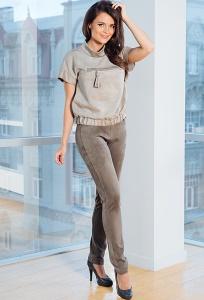 Женские брюки цвета хаки TopDesign Premium PA7 15