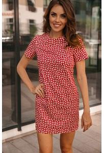 Простое короткое летнее платье Donna Saggia DSP-88-53