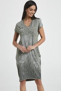 994d7cb48d3 Лазурное платье из тонкого хлопкового трикотажа Enny 250039