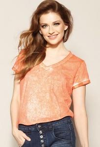 Оранжевая трикотажная блузка Zaps Amira