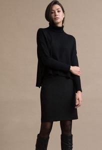 Черная классическая юбка-карандаш Emka S762/almaza