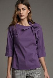 Свободная блуза фиолетового цвета Emka B2524/global
