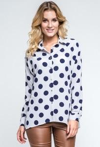 Женская рубашка в крупный горох Enny 240191