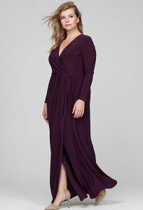 Трикотажное платье с запАхом Donna Saggia DSPB-13-86t