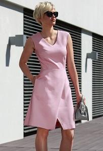 Летнее платье розового цвета Flaibach 009S7