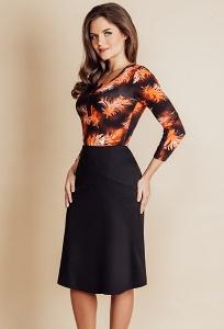 Чёрная юбка TopDesign B6 121