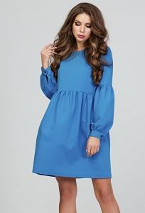 Коктейльное платье василькового цвета Donna Saggia DSP-282-58