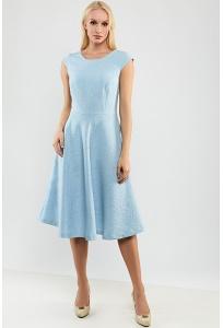 Летнее голубое платье без рукавов TopDesign A9 149