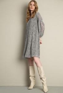 Шифоновое платье с принтом Emka PL1070/grant