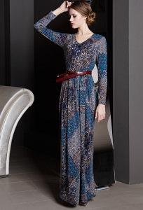 Длинное трикотажное платье Flaibach 126W7