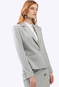 Жакет серого цвета в белый горошек Emka ML547/pray