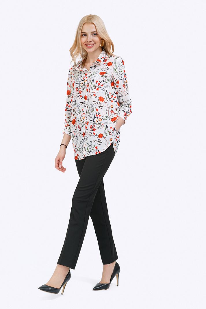 e4546c5a597 Яркая блузка рубашечного кроя Emka B2198 rodomila купить в интернет ...