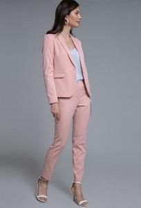 Укороченные брюки розового цвета Emka D021/fussy