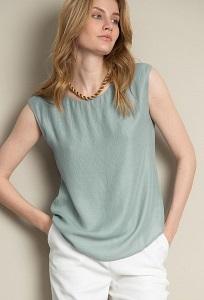 Изящная блузка без рукавов Emka B2570/ruler
