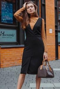 Сарафан чёрного цвета Donna Saggia DSP-406-6
