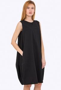 39123d021e1 Купить чёрное платье-балон без рукавов в интернет-магазине недорого Emka  PL-628 naina