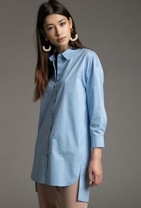 Удлиненная рубашка из 100 % хлопка Emka B2519/morris
